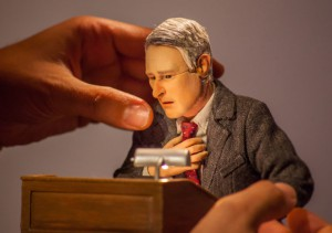 Picture of hand adjusting animation puppet